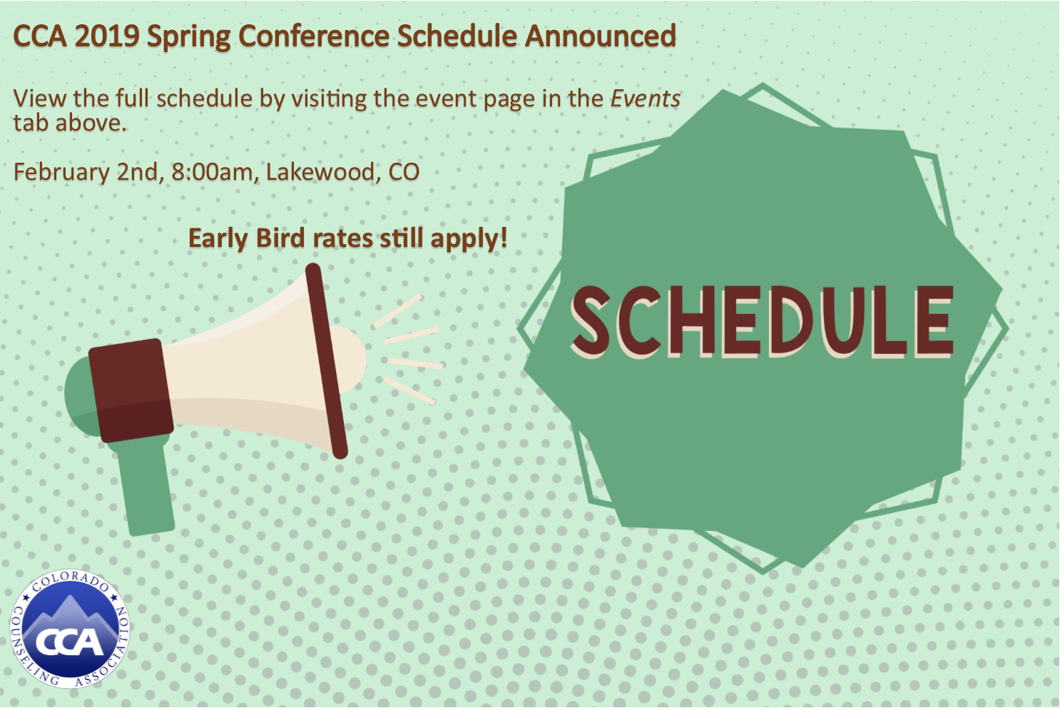 Spring Conference Schedule Announced
